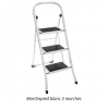 Marchepied echelle professionnelle 3 marches, blanc