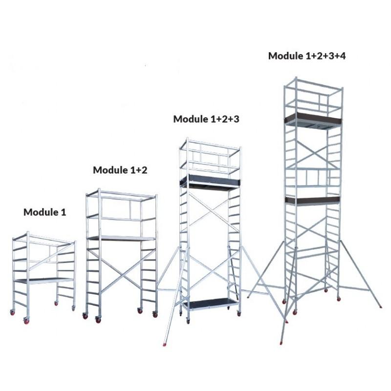 Echafaudage professionnel modulaire aluminium HAILO