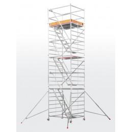 Echafaudage roulant HYMER SC60-6576 avec escaliers intérieurs (plateforme 1,50 x 1,90 m)