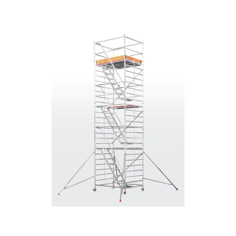 Echafaudage roulant SC60 avec escaliers intérieurs - plateforme 1,50 x 1,90 m