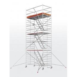 Echafaudage roulant HYMER SC60-6573 avec escaliers intérieurs (plateforme 1,50 x 2,95 m)
