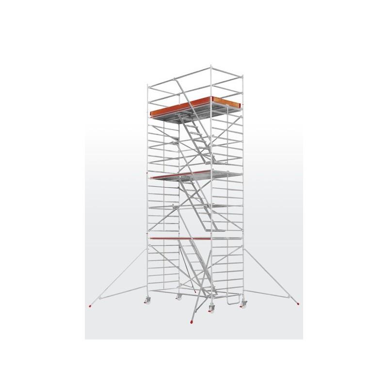 Echafaudage roulant SC60-6573 avec escaliers intérieurs (plateforme 1,50 x 2,95 m)