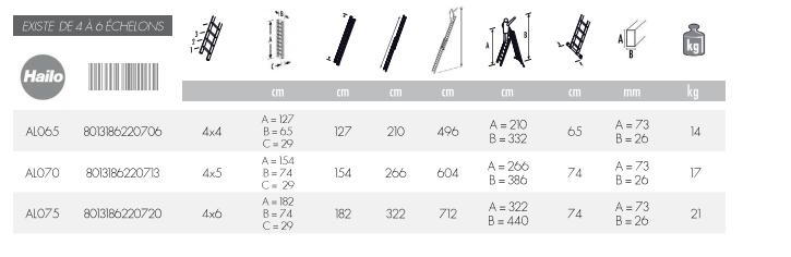dimension echelle telescopique multifonction